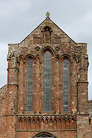 Lanercost Priory, Cumbria, England, UK.  Anglican Church of Mary Magdalene, 13th. Century.  Statue of Mary Magdalene is a gift from King Edward I.