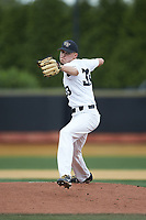 Wake Forest Demon Deacons starting pitcher Ryan Cusick (33) in action against the Davidson Wildcats at David F. Couch Ballpark on May 7, 2019 in  Winston-Salem, North Carolina. The Demon Deacons defeated the Wildcats 11-8. (Brian Westerholt/Four Seam Images)