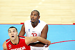 Boris Diaw (13) of France. France v Canada, friendly basketball match in preparation for the European championships. Palais Des Sports, Toulouse, France, 27th July 2011.