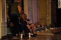 Saturday 21 December 2013<br /> Pictured: People eat their McDonalds on the street in Cardiff<br /> Re: Black Friday Drinkers