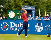 2nd July 2021; Mount Juliet Golf Club, Kilkenny, Ireland; Dubai Duty Free Irish Open Golf, Day Two; Marcus Armitage of England tees off on the 10th hole