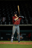 AZL Dbacks Corbin Carroll (2) at bat during an Arizona League game against the AZL Cubs 2 on June 25, 2019 at Sloan Park in Mesa, Arizona. AZL Cubs 2 defeated the AZL Dbacks 4-0. (Zachary Lucy/Four Seam Images)