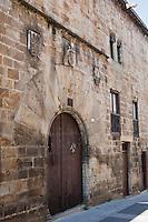 Europe/Espagne/Pays Basque/Guipuscoa/Goierri/Segura: Palais de Guevara dans la Calle Mayor XV ème siècle