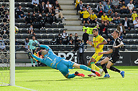 19th September  2021; Angers, Pays de la Loire, France; French League 1 football Angers versus Nantes;  Goal scored by Ludovic BLAS of Nantes