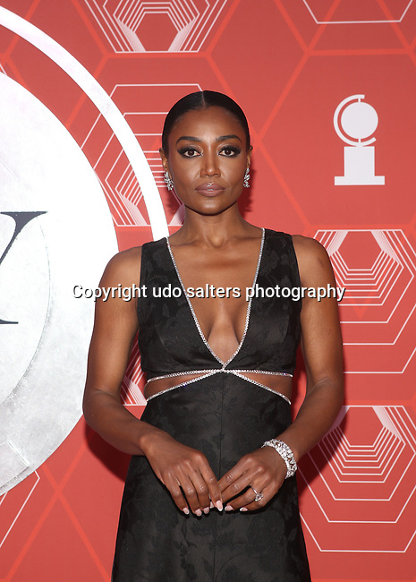 Patina Miller attends the 74th Tony Awards-Broadway's Back! arrivals at the Winter Garden Theatre in New York, NY, on September 26, 2021.
