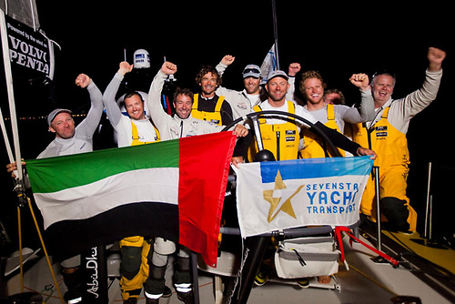 A new Monohull Around Britain and Ireland World Record was established by Volvo Ocean 65 Azzam-Abu Dhabi Ocean Racing, skippered by Ian Walker during the Sevenstar Round Britain and Ireland Race 2014 Photo: Ian Roman