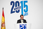 """Director of """"20Minutos"""" newspaper, Arsenio Escolar during the main event of the XV Aniversary of the """"20Minutos"""" newspaper at Headquarters of the Community of Madrid, November 24, 2015<br /> (ALTERPHOTOS/BorjaB.Hojas)"""