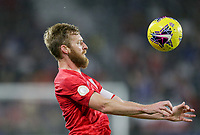 ORLANDO, FL - NOVEMBER 15: Tim Ream #13 of the United States traps the ball during a game between Canada and USMNT at Exploria Stadium on November 15, 2019 in Orlando, Florida.