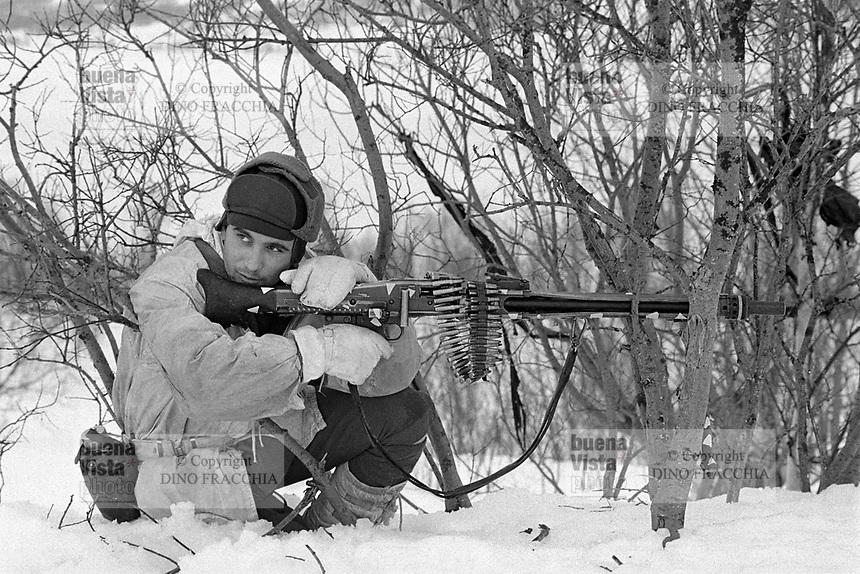 - NATO exercises AMF (Allied Mobil Force) in Norway, february 1986; Italian Alpine troops from the Taurinense brigade<br /> <br /> - Esercitazioni NATO AMF (Allied Mobil Force) in Norvegia, febbraio 1986; militari italiani Alpini della brigata Taurinense