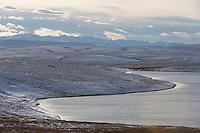 Island lake and the Endicott mountains, Brooks range, Alaska