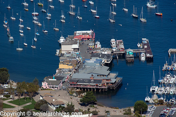 aerial photograph Fisherman's Wharf, Monterey, California
