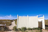 Dune path leading to the beach and public bathroom, Cape Cod Bay, Crosby Beach, BrewsterCape Cod,