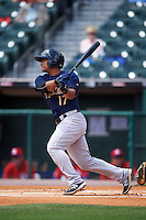Scranton/Wilkes-Barre RailRiders second baseman Donovan Solano (17) at bat during a game against the Buffalo Bisons on July 2, 2016 at Coca-Cola Field in Buffalo, New York.  Scranton defeated Buffalo 5-1.  (Mike Janes/Four Seam Images)