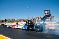 Jul 27, 2019; Sonoma, CA, USA; NHRA top fuel driver Brittany Force during qualifying for the Sonoma Nationals at Sonoma Raceway. Mandatory Credit: Mark J. Rebilas-USA TODAY Sports
