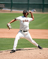 Nathan Pendley / AZL Giants..Photo by:  Bill Mitchell/Four Seam Images