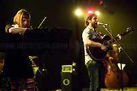 """Nosenzo.<br /> <br /> Rome, 14/04/2018. Today, the """"Nuovo Cinema Palazzo"""", to celebrate the 7th anniversary of its occupation, held a concert with various bands, including """"Nosenzo"""" (Alessandro Nosenzo: lead singer, songwriter, guitar; Giulia Anita Bari: violin; Renato Gattone: contrabass / double bass - https://www.renatogattone.net/; Nicolò Di Caro: Drums; <<Mediterranean Sound and Gypsy Heart, Nosenzo embraces different styles and historical periods for his music, looks to the East and embraces the earth. His music is a mixture of cultures and gives way to dances watching the world as a beautiful playground […]>>). From the organiser website: <<On the 15 April 2011, citizens, movements, workers of the entertainment industry reopened the former """"Palazzo Cinema"""" to prevent the opening of a casino. The project, which was without authorization and strongly illegitimate, would have involved the San Lorenzo's area and its urban and social community. It was against the 'construction' of gambling and the rampant speculation from which the project of the Nuovo Cinema Palazzo was born, now that is the place of the 'possible' in which art, culture and politics constantly take shape and content. [...] Where decisions are made focusing on the relationship and the meeting between people there is always an open place for exchange, discussion and sharing. Every moment in which it is decided to resist opens a different horizon capable of creating a cultural, political and social space accessible to everyone. Every form of material and immaterial work which is practised is the collective will that gives back  quality as well as quantity, at the same time enhancing aesthetics and beauty [...] >>.<br /> <br /> For more info please click here: http://www.nuovocinemapalazzo.it/ & https://bit.ly/2H0QBqb<br /> <br /> For More info about Nosenzo please click here: https://bit.ly/2H0nOSM & https://bit.ly/1IFlc6P & https://bit.ly/2qztM1T & https://bit.ly/2qAhqYe"""