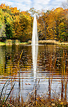 The pond and fountain at the Boscobel mansion in Cold Spring, NY
