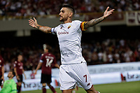 29th August 2021;  Estadio Arechi, Salerno, Campania, Italy;  Serie A Football league, Salernitana versus Roma; Lorenzo Pellegrini of AS Roma celebrates after scores  for 1-0 in 48th minute
