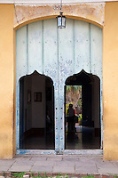 Cuba, Trinidad.  Doorway to an Inner Garden.
