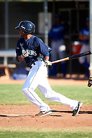 Seattle Mariners minor league outfielder Jesus Ugueto #29 during an instructional league game against the Kansas City Royals at the Peoria Sports Complex on October 2, 2012 in Peoria, Arizona.  (Mike Janes/Four Seam Images)