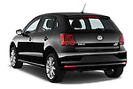 Car pictures of rear three quarter view of a 2014 Volkswagen POLO SPORTLINE 5 Door Hatchback 2WD Angular Rear