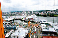 Vancouver: EXPO '86--Panorama from top of Space Tower. Note modular pavilions. Photo '86.