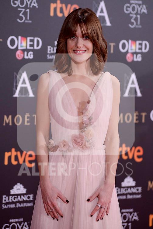 Alexandra Jimenez attends to the Red Carpet of the Goya Awards 2017 at Madrid Marriott Auditorium Hotel in Madrid, Spain. February 04, 2017. (ALTERPHOTOS/BorjaB.Hojas)