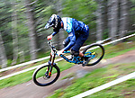 Joshua Barth (GER)Downhill training sesion, UCI, Moutain Bike World Cup , Vallnord Andorra. 12/07/2018