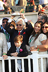 June 6 2015:  American Pharoah with Victor Espinosa becomes the 12th Triple Crown winner by winning the 147th running of the Grade I Belmont Stakes for 3-year olds, going 1 1/2  mile at Belmont Park.  Trainer Bob Baffert. Owner Zayat Stables LLC . Sue Kawczynski/ESW/CSM