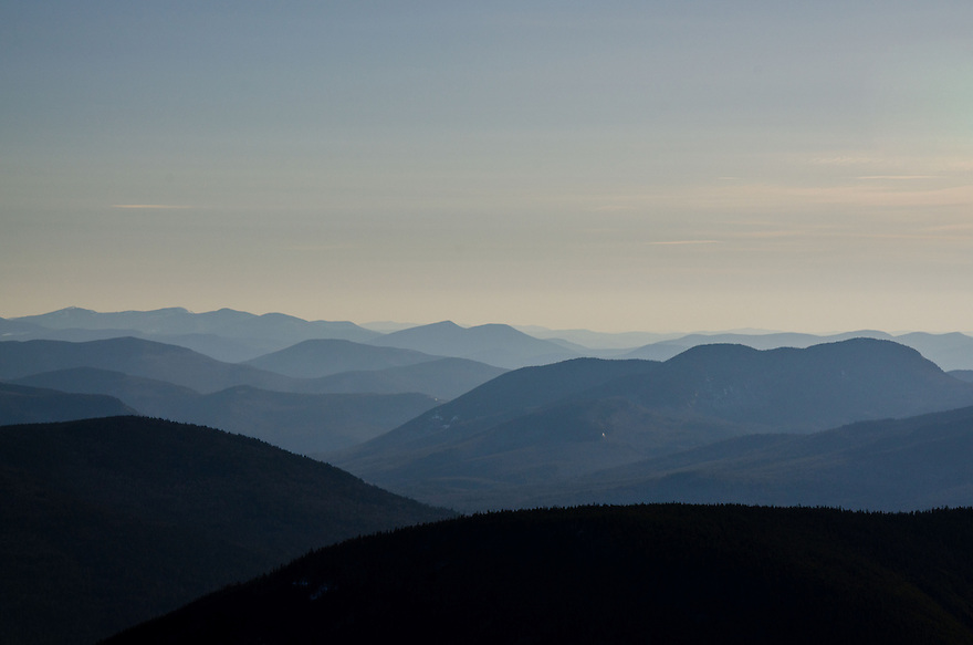 The rugged ridges of the eastern White Mountains as seen from East Osceola.