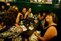 Girls night at Hussong´s bar. <br /> <br /> At the oldest cantina of all Mexico and the Californias (California in USA and Baja California Mexico) opened in the year of 1892 and where the famous mexican drink known as Margarita was created, Hussong´s cantina.