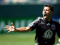 DC United's Christian Gomez celebrates his goal after scoring a pk putting United in the lead. The LA Galaxy and DC United play to 2-2 draw at Home Depot Center stadium in Carson, California on Sunday March 22, 2009..