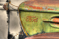 Vintage Ford Truck detail in New Mexico on Route 66