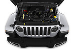Car stock 2020 Jeep Gladiator Overland 4 Door Pick Up engine high angle detail view