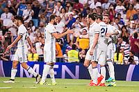 Real Madrid's player Asensio, Nacho, Gareth Bale, Alvaro Morata and Sergio Ramos during the XXXVII Santiago Bernabeu Trophy in Madrid. August 16, Spain. 2016. (ALTERPHOTOS/BorjaB.Hojas) /NORTEPHOTO