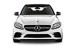 Car photography straight front view of a 2019 Mercedes Benz C-CLass 43-AMG 4 Door Sedan