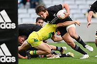 22nd May 2021; Eden Park, Auckland New Zealand; All Blacks Sevens versus Australia, Trans-Tasman Sevens;  Ollie Sapsford breaks toward the Australian goal line