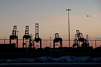 ELIZABETH, NEW JERSEY - MARCH 03: Cranes are seen at Port Elizabeth on March 03, 2021 in Elizabeth, New Jersey. According projections the EE.UU economy rises 5,5% in 2021. where the excess savings in North American households will return to the market after vaccination and boosting consumption. (Photo by VIEWpress)