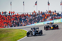 3rd September 2021: Circuit Zandvoort, Zandvoort, Netherlands;     Red Bull driver Sergio Perez with Lance Stroll of Aston Martin Formula 1 Dutch Grand Prix