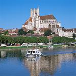 France, Burgundy, Département Yonne, Auxerre: Cathedral Saint-Étienne | Frankreich, Burgund, Département Yonne, Auxerre: Kathedrale Saint-Étienne
