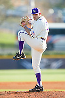High Point Panthers starting pitcher Jared Avidon (31) in action against the Liberty Flames at Willard Stadium on March 23, 2013 in High Point, North Carolina.  The Panthers defeated the Flames 9-3.  (Brian Westerholt/Four Seam Images)