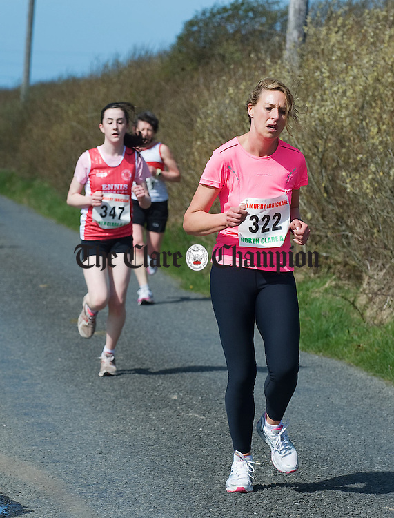 Lorna O Neill of KIB feels the pain at the Michael Egan Memorial roadrace in Quilty. Photograph by John Kelly.