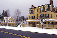 AJ5976, college, university, winter, snow, Building on Middlebury College campus in winter in Bread Loaf in Addison County in the state of Vermont.
