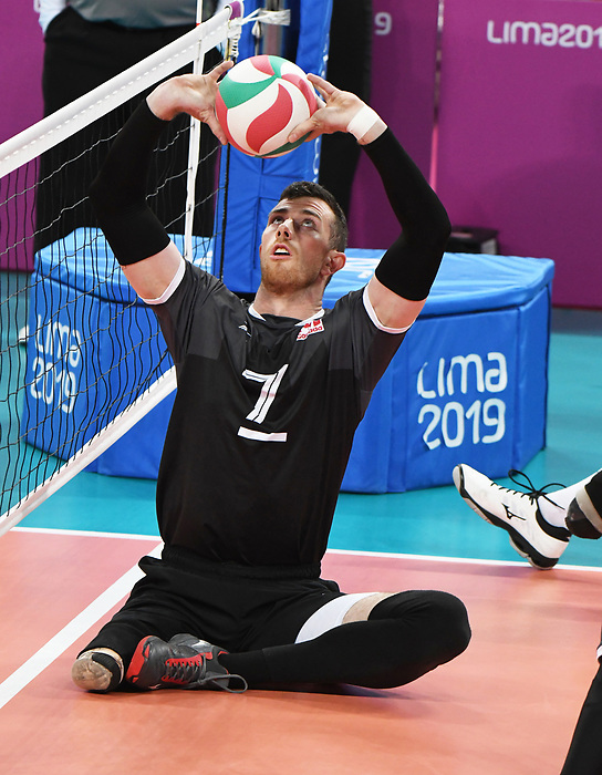 Doug Learoyd, Lima 2019 - Sitting Volleyball // Volleyball assis.<br /> Doug Learoyd competes in men's Sitting Volleyball // Doug Learoyd participe au volleyball assis masculin. 24/08/2019.