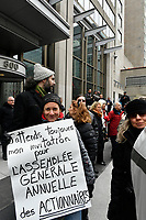 Manon Masse attend an anti-BOMBARDIER Demonstration, April 2, 2017<br /> <br /> PHOTO  :  Agence Quebec Presse