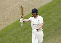28th May 2021; Emirates Old Trafford, Manchester, Lancashire, England; County Championship Cricket, Lancashire versus Yorkshire, Day 2; Luke Wells of Lancashire acknowledges the crowd's applause as he reaches his half century on the second day
