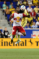 Harrison, NJ - Wednesday July 06, 2016: Anatole Abang during a friendly match between the New York Red Bulls and Club America at Red Bull Arena.