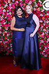 NEW YORK, NY - JUNE 10:  President of The Broadway League, Charlotte St. Martin and President and CEO of the American Theatre Wing, Heather Hitchens  attends the 72nd Annual Tony Awards at Radio City Music Hall on June 10, 2018 in New York City.  (Photo by Walter McBride/WireImage)