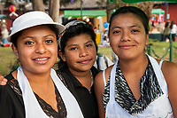 Antigua, Guatemala.  Three Young Guatemalan Women.