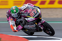 27th August 2021; Silverstone Circuit, Silverstone, Northamptonshire, England; MotoGP British Grand Prix, Practice Day; Rivacold Snipers Team rider Alberto Surra on his Honda NSF250RW in the Moto3 category